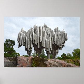Sibelius Monument, Helsinki, Finland Poster