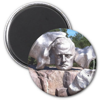 Sibelius's Head 2 Inch Round Magnet
