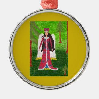 Siberian Angel Ornament - Premium Round