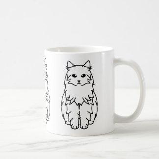 Siberian Cat Cartoon Coffee Mug