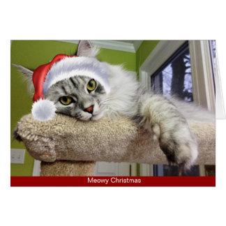 Siberian Cat Christmas Card