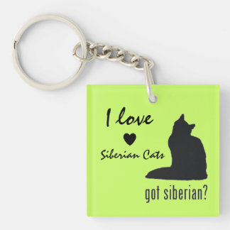 Siberian Cat Lovers' Key Chain