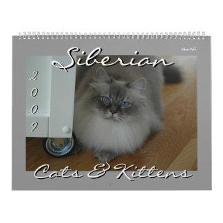 Siberian Cats and Kittens 09 Calendar