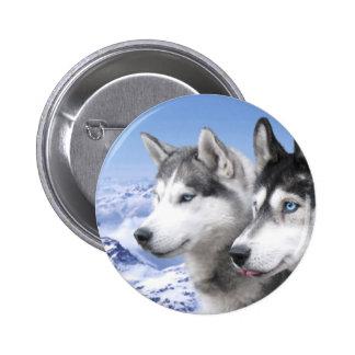 Siberian Huskies 2 Inch Round Button