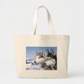 Siberian Huskies Tote Bags