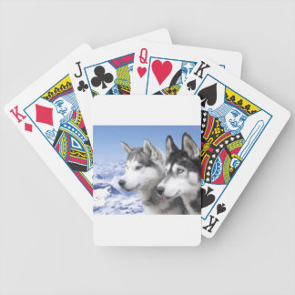 Siberian Huskies Bicycle Playing Cards