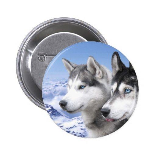Siberian Huskies Button