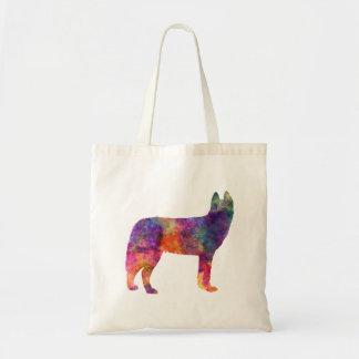 Siberian Husky 01 in watercolor Tote Bag