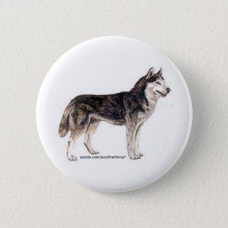 Siberian Husky! 2 Inch Round Button