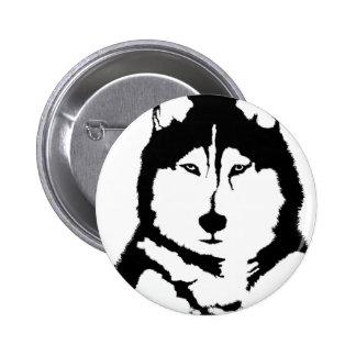 Siberian Husky 2 Inch Round Button