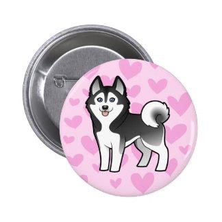 Siberian Husky / Alaskan Malamute Love Button