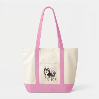 Siberian Husky / Alaskan Malamute Love Impulse Tote Bag