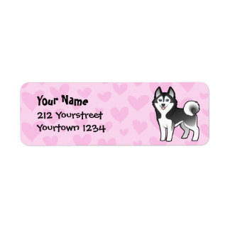 Siberian Husky / Alaskan Malamute Love Return Address Label