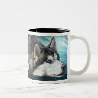 Siberian Husky Art Mug