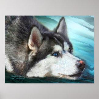 Siberian Husky Art Poster/Print Poster