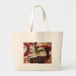 Siberian Husky Canvas Bags