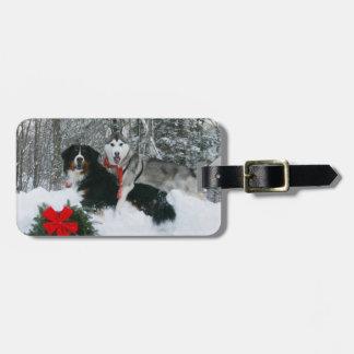 Siberian Husky Berneses Mountain Dog Luggage Tags