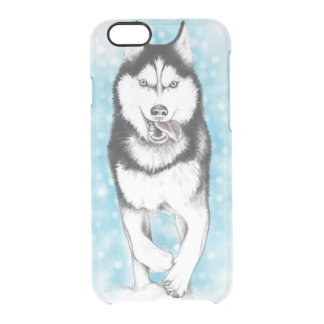 Siberian Husky Blue Clear iPhone 6/6S Case