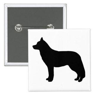 Siberian Husky 2 Inch Square Button