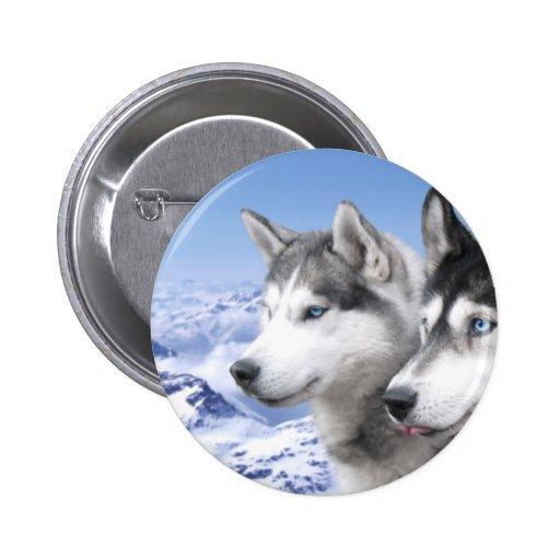 Siberian Husky Pinback Button