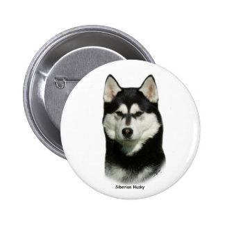 Siberian Husky 2 Inch Round Button