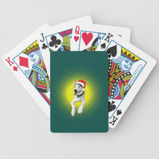 Siberian Husky Christmas Bicycle Playing Cards