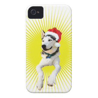 Siberian Husky Christmas Case-Mate iPhone 4 Cases