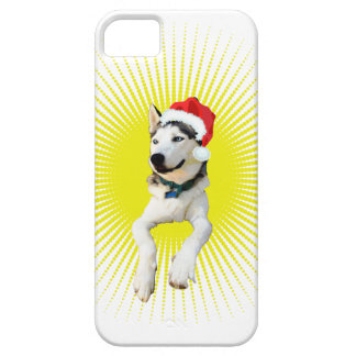 Siberian Husky Christmas iPhone 5 Case