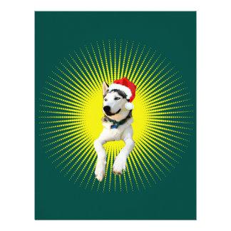 Siberian Husky Christmas Letterhead