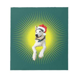 Siberian Husky Christmas Notepad