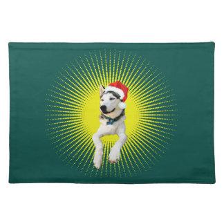 Siberian Husky Christmas Placemat