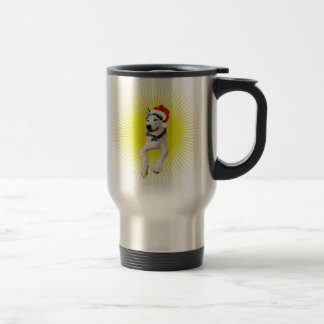 Siberian Husky Christmas Travel Mug