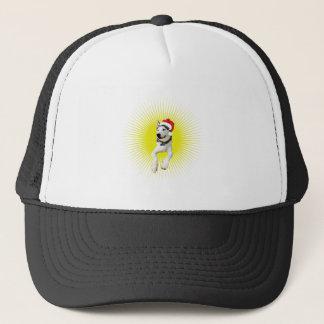 Siberian Husky Christmas Trucker Hat