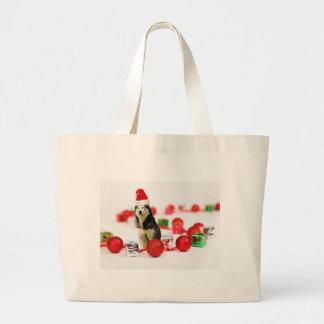 Siberian Husky Christmas with Ornament  Gift Box Jumbo Tote Bag