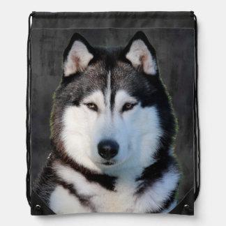 Siberian Husky Cinch Bags