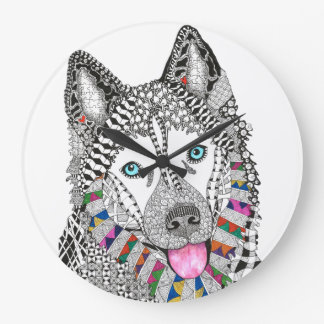 Siberian Husky Clock (You can Customize)