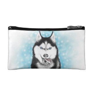 Siberian Husky Cosmetic Bag