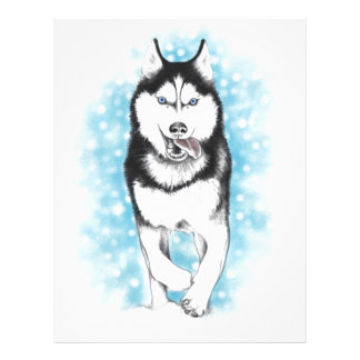 Siberian Husky Custom Letterhead