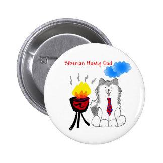 Siberian Husky Dad Button