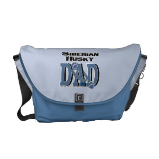 Siberian Husky DAD Messenger Bag