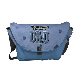 Siberian Husky DAD Commuter Bag