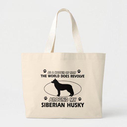 siberian husky designs bags