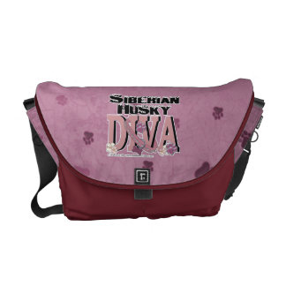 Siberian Husky Diva Commuter Bag