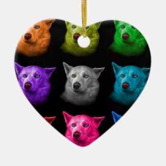Siberian Husky Dog Art 2103 BB Ceramic Ornament
