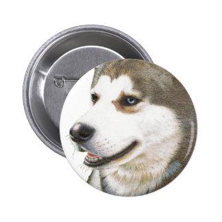 Siberian Husky Dog Art Pin