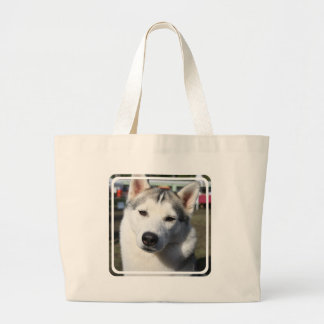 Siberian Husky Dog Canvas Tote Bags