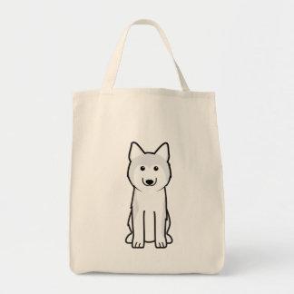 Siberian Husky Dog Cartoon Tote Bags