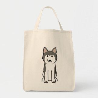 Siberian Husky Dog Cartoon Tote Bag