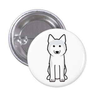 Siberian Husky Dog Cartoon Pins