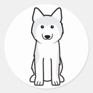 Cartoon Siberian Husky Stickers Zazzle Ca